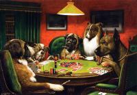 le c l bre tableau des chiens jouant au poker vendu pour. Black Bedroom Furniture Sets. Home Design Ideas