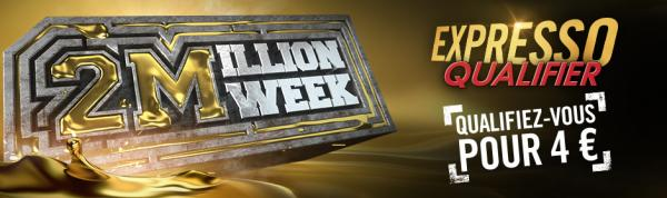 Poker : WINAMAX : Pour 4€, direction le 2 Million Week ?
